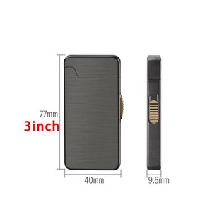 Novelty Usb Charge Electric Lighter Rechargeable Inflatable Dual Purpose Portable Windproof Lighters Smoking Acces jllnEF home003