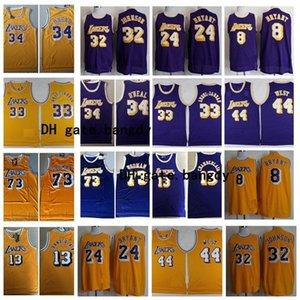 NostaljikLosMeleklerLakers Shaquille O Neal 44 Jerry 32 Earvin Johnson 33 Kareem Rodman WestNba stok basketbol forması