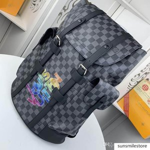 brand 41379 shoulder bag Large capacity Leather canvas production printing Model: M