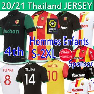 RC عدسة Sainte-Barbe Soccer Jerseys Kakuta Ganago Sotoca Muinga Medina Medina Bade 2020 2021 RC Lens Mailleot De Fot Men Kits Kids Football Shirts
