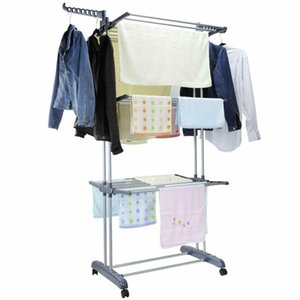 3 Tier Laundry Organizer Folding Drying Rack Clothes Dryer Hanger Stand Storage