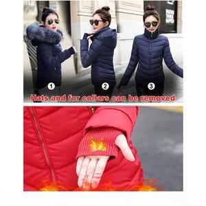 Sijimz Kış Ceket Kadınlar 2018 Kış Sıcak Aşağı Ceket Kadınlar Kalın Paragraf Yapay Rakun Kürk Yaka Kadın Ceket Ceket S181012