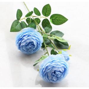 시뮬레이션 모란 인공 꽃 가정 결혼식 아름다운 장식 가짜 꽃 플라스틱 모란 꽃 유럽 3 머리 모란 EEF3513