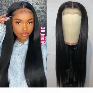 30 inch Wig Transparent Lace Closure Wig Straight Human Hair Wigs for Women 4x4 Closure Long Straight Remy Hair