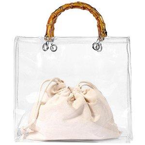 Women Transparent For Jelly Bag Tote Beach Pvc Korean Bamboo Bags Fashion Casual Handbag Handbags Handle Hand Clear Female Hhird