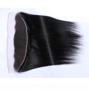 Transparent Peruvian Straight Human Hair Lace Frontal Closure 13x4 Middle Free Three Part Swiss Lace 100% Remy Natural Hairline