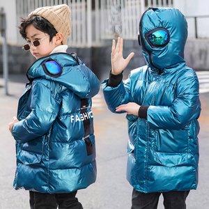 OLEKID 2020 Down Jacket per i ragazzi Ultraman impermeabile lucido Bambino Cappotto 3-12 anni Kid adolescenti Ragazze Capispalla Parka