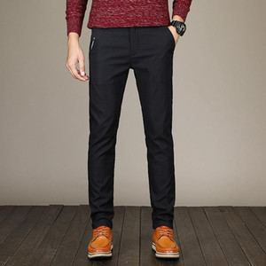 2020 Spring Pants Men Fashion Business Stretch Men Chinos Trousers Casual Black Cotton Pants Pentalon Homme Mens Clothing