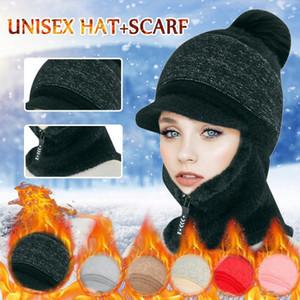 Winter Hat Beanies Hats Women's Warm Beanies Scarf Cap Mask Knitted Hats For Women Winter Beanie Caps Gorra