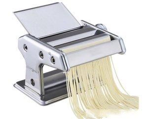 Aço inoxidável ordinária 2 Blades Pasta faz a máquina manual Noodle Criador manuais Spaghetti Pasta cortador Noodle Hanger LLFA