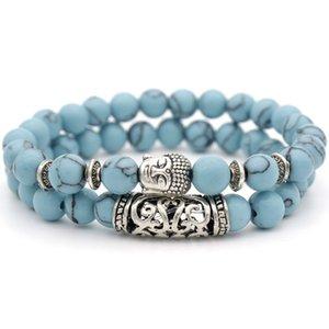 Turquoise Lava stone Essential Oil Diffuser women bracelets Yoga Natural stone Buddha Bracelet fashion jewelry