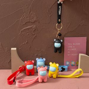 5 Designs among us keychain among us Plush Toys Key Chain Wedding Gifts Bag Pendant Key Ring for Kids Boys and Girls Christmas Gift
