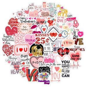 День святого Валентина мультфильм наклейки любовь для пара для детских игрушек ноутбук багаж телефон чемодан гитара холодильник автомобильные наклейки наклейки
