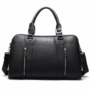 New fashion briefcase messenger bags men's genuine leather 14'' laptop bag office business tote