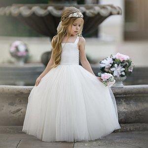 Chaquein filles robes robes de tulle de tulle blanche pour robe de mariée Stade costume costume robe de Noël enfants robe princesse F1202
