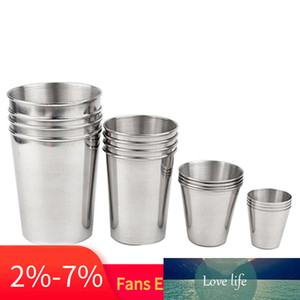 30-320ml Stainless Steel Metal Beer Cup Wine Cups Coffee Tumbler Tea Milk Mugs Home Kitchen Caneca Inox Fast Delivery