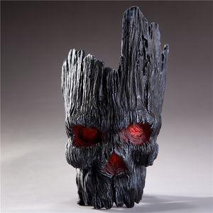Ghost Groot Planters 2 Versions Skull Flowerpot Table Art Creative Flowerpots For Succulents 18CM Hallween Home Decor 35 Q1123