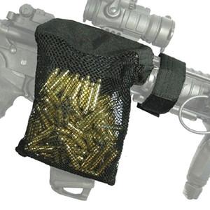Coletor de nylon de nylon tático ao ar livre Bolso de malha de bolacha de latão de bolsa de bronze com fundo com zíper para descarregar rápido