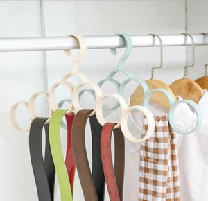 Clothes rack silk scarf tie storage Hangers household plastic clothes Hangers belt rack, belt rack, silk scarf rack