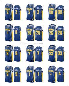 2021 Personalizado Indiana Homens Mulheres Jovens domantas Sabonis Victor Oladipo T.J. Warren 2020-21 City Basketball Jersey Novo Uniforme