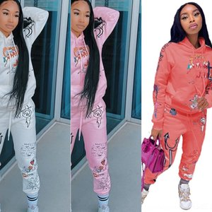5J0D Tracksuits stacked leggings Two sweatpants Women stacked Piece Set Crop Top Flare Pants Stacked Joggers Bell Bottom Pants112
