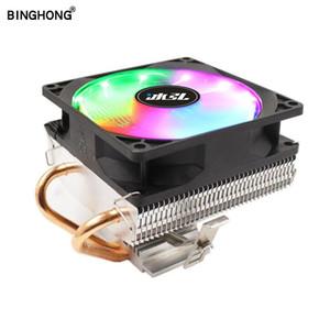 BINGHONG rgb 3 4 pin 90cm cpu fan cooler 2 copper pipe for Intel 775 1155 1366 amd am4