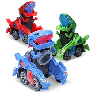 Electric Dino Vehicle Magic Car Toys Transforming Dinosaur Toys Led Car Sound Auto-deformed Dino Racer Kid Car For Boys Gifts Z1124