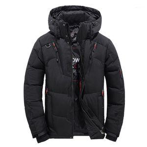 Men's Down & Parkas Men's Coats Boys Fashion Casual Warm Winter Hat Detachable Zipper Coat Outwear Jacket Top Blouse Mens High Quality