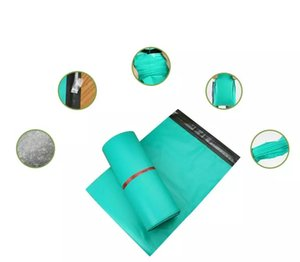 100pcs lot Green Color Self-Adhesive Poly Mailer Mailing Post Envelope Plastic Express Courier Bags Shipping Packing Pouch