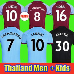 20 21 Batı Futbol Forması 2020 2021 United Noble Formalar Anderson Pirinç Noble Futbol Gömlek Erkekler + Çocuk Kiti 125 Yıl 125th Üçüncü Siyah