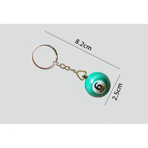 السنوكر 16 قطعة / الوحدة بالجملة الكرة بركة البلياردو مفتاح سلسلة المفاتيح البسيطة البلياردو الرئيسية حلقة السفينة حرة