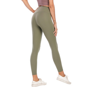 L-003 Yoga-Hose für Frauen Hoch elastisch Fitnessstudio Lu Flexible Stoff Leggings Lightweight Nackt Feeling Yoga Hosen Fitness Wear Damen Marke 183 #