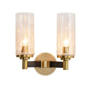 Modern Lustre Crystal Wall Lamp Bronze Bedroom E14 6W Led Wall Lights 220v Fixtures Living Room Light Corridor Sconce