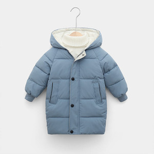 Children's Down Coat Winter Teenage Baby Boys Girls Cotton-padded Parka & Coats Thicken Warm Long Jackets Toddler Kids Outerwear 201126