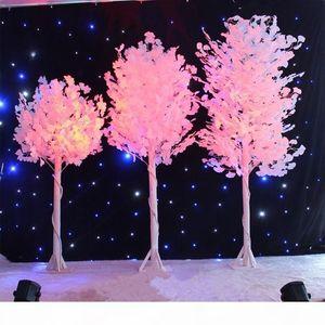 1,0 M 1.2m 1,5 m de altura Árbol de imitación blanca de la boda, hoja blanca, mercancías de la boda