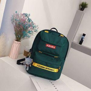 Nylon Canvas Mulheres Grande Capacidade Sólida Color Trackpack Classic College Style Schoolbag Online