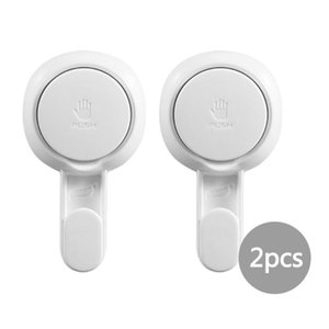 2 4 PCS No Need For Drilling Vacuum Suction Cup Hooks Non-Destructive Wall Hooks TPR+ABS For Kitchens, Bathrooms