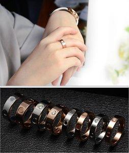 Moda jóias de aço inoxidável amor anel de diamante jóias anéis de casamento para mulheres mulheres noivado de presente US tamanho (5-11)