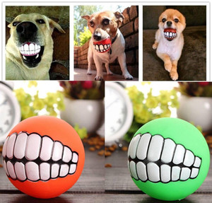 Funny Pet Dog Puppy Cat Ball Tooth Toy Chewing Sound Dog Play Take Out Buzz bbyGaF sweet07