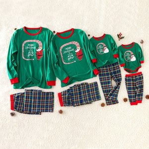 Deer Printed Family Clothes Christmas 2020 Pajamas Toddler Romper Parent-child Tops Pants Family Matching Outfits Christmas