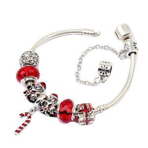 factory Amazon DIY glass bead beaded bracelet European American Christmas hot selling Santa Claus magic wand pendant snake bone bracelets