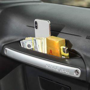 GrabTray Passenger Storage Tray Organizer Grab Handle Accessory Box for 2011-2018 Jeep Wrangler JK JKU Interior Accessories QC43