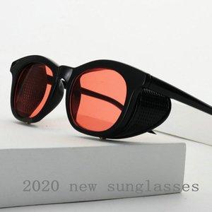 2020 Retro Lunettes de soleil pour petits carrés Femmes Hommes Mode Leopard Rectangle Lunettes de soleil rondes New lunettes transparentes NX