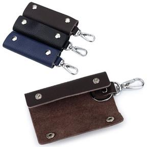 Fashion Genuine Leather waist key case door lock key wallets bag men & women multi-function cowhide key chain case Holder Yt17