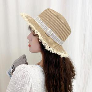 2021 Nouveau SEIOUM SECTION SECTION BOUR Straw Hat Dames Mode Jazz Hat Wild Couple Plage Sun
