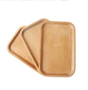 Assiettes en bois plat carré fruits plateau plateau plateau biscuits plate plat plateau plateau plateau verre timbre bol pavé tampon tamways mat xtl103
