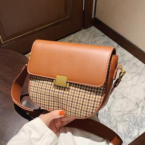 Elegant Grid Crossbody Messenger Bags For Women 2021 New Shoulder Handbags Female Luxury Designer Purses Travel High Quality