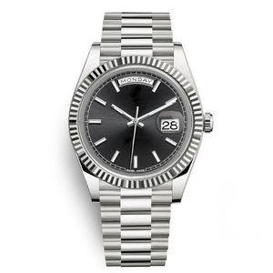 Sapphire Crystal Gold Silver Fashion Womens Party женские Часы Мужские Мужчины Дизайнер Механическое Автоматическое движение Дэйддированное Часы Наручные часы