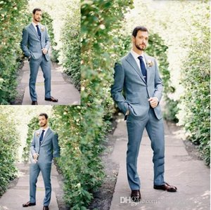 2020 Latest Coat Pant Designs Navy Blue Simple Wedding Suit for Men Classic Suits Custom Made Tuxedo Jacket 2 Pieces Terno