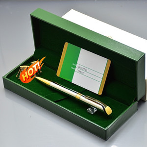 Regalo de cumpleaños de lujo - RLX de alta calidad RLX escribiendo bolígrafos bolígrafos bolígrafos + gemelos para hombres para hombre camisa de gemelos con caja original